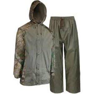 REALTREE 2 Piece Men's Camo Polyester Rain Suit